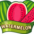 Watermelon label design — Stock Vector