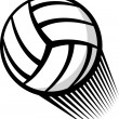 Stock Vector: Volleyball ball