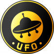 Ufo design (symbol, badge, sign) — Stock Vector