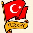 Turkey flag — Stock Vector