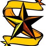 Star tattoo — Stock Vector