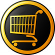 Shopping cart icon — Stok Vektör