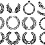 Wreath set (wreath collection, laurel wreath, oak wreath, wreath of wheat, and olive wreath) — Stock Vector #27257365