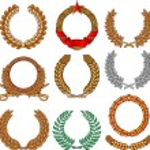 Wreath set (wreath collection, laurel wreath, oak wreath, wreath of wheat) — Stock Vector #27257373