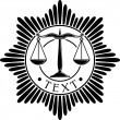 Постер, плакат: Scales of justice symbol scales of justice seal scales of justice order scales of justice medal