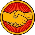 Handshake symbol (emblem, symbol, sign) — Stock Vector #27257503