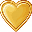 Golden heart — Stock Vector