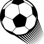 Vector football ball (soccer) — Stock Vector