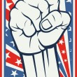 Fist - poster (Inspired by the American flag) — Stock Vector #27257589