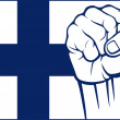 Stock Vector: Finland fist (flag of finland)