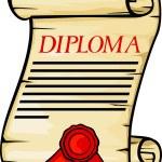 Diploma — Stock Vector