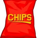 Potato chips bag — Stock Vector