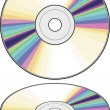 Stock Vector: Vector CD (Compact disc)