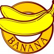 Banana label — Stock Vector