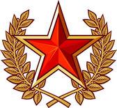 Star and laurel wreath — 图库矢量图片
