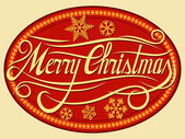 Christmas card illustration (merry christmas) — Stok Vektör