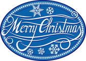 Christmas card illustration (merry christmas) — Stock vektor