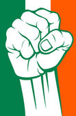 India fist (flag of india) — Stock Vector