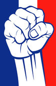 France fist — Stock Vector