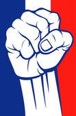 France fist — Stock Vector