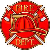Straż Pożarna lub strażaków symbolu Krzyża maltańskiego — Wektor stockowy