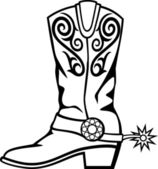 Cowboy boot — Stock Vector