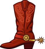 Bota de cowboy — Vector de stock