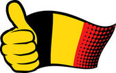 Germany flag. Hand showing thumbs up. — Stock Vector