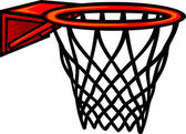 Basketbal hoepel. vectorillustratie — Stockvector