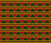 Africa-inspired pattern (ornaments, background, Seamless patterns) — Stock vektor