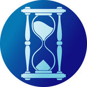 Sand clock (hourglass) — Stockvektor