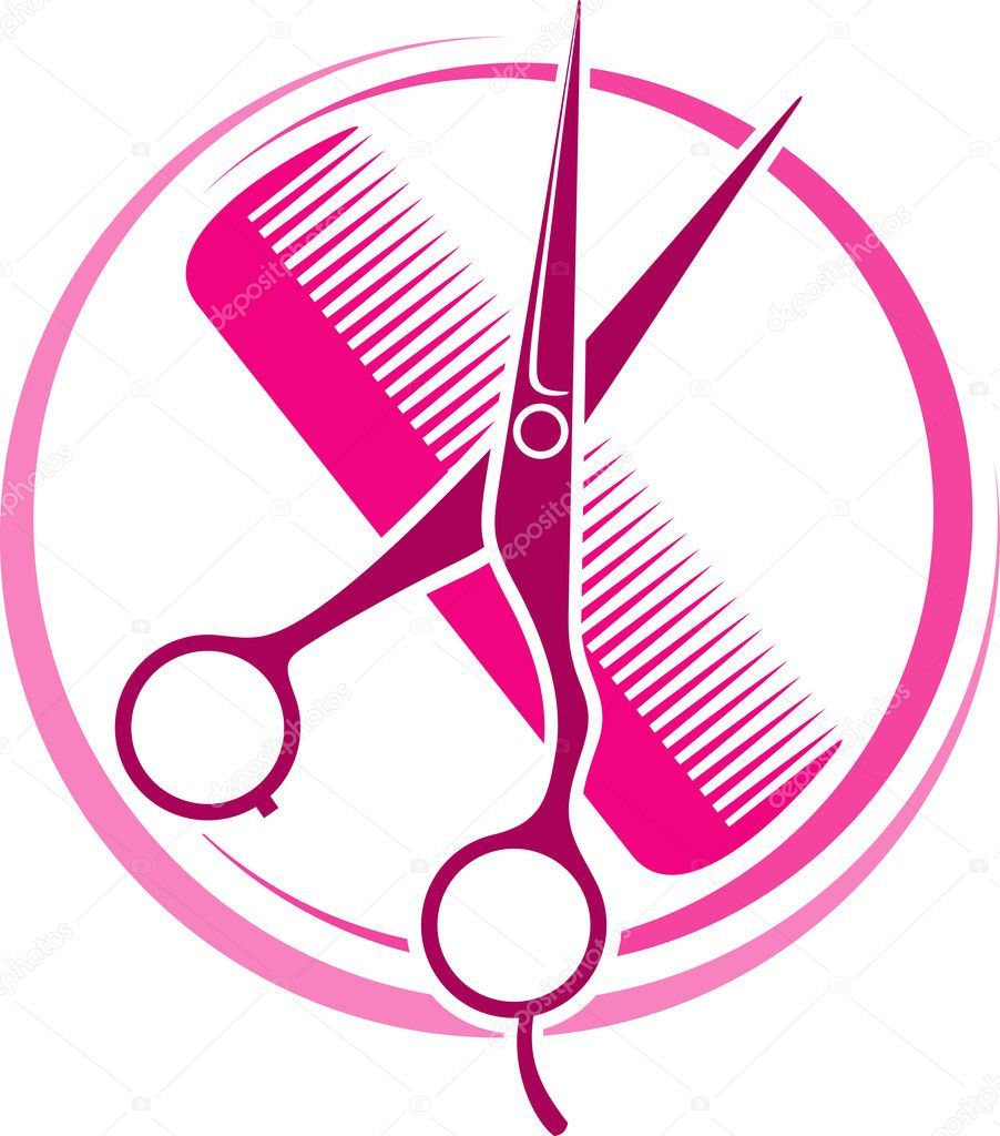 Hair stylist scissors vector