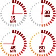 Clock icons — Stock Vector #28003221
