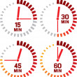 Clock icons — Vettoriale Stock  #28003221