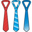 Set of male business ties  — Stock Vector