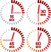 Icone dell'orologio — Vettoriale Stock