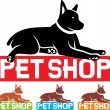 Stock Vector: Pet shop label