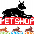 Pet shop label — Stock Vector #29545875