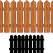 Wooden fence — Stock Vector #29545911