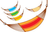 Hammock set — Stock Vector