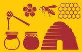Preparación de la miel — Vector de stock