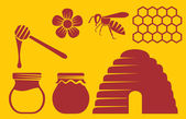 Preparation of honey — Stock Vector