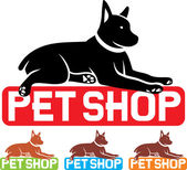 Pet shop label — Stock Vector