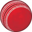 Stock Vector: Cricket ball