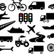 Transportation icon set  — Stock Vector