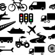 Transportation icon set  — Stockvectorbeeld