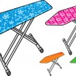 Stock Vector: Ironing board