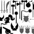Medieval weapons icons — Stock Vector #31307059