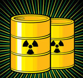 Barrels with nuclear waste — Stock Vector