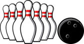Bowling — Vettoriale Stock